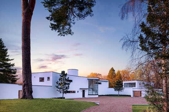 Oliver Hill-designed Cherry Hill art deco house on the Wentworth Estate, Surrey
