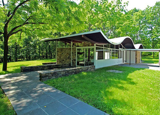 1960s Jules Gregory-designed midcentury modern property in Lambertville, New Jersey, USA