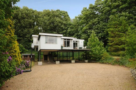 On the market: Sunnybank 1980s-built house on stilts in Coltishall, near Norwich, Norfolk