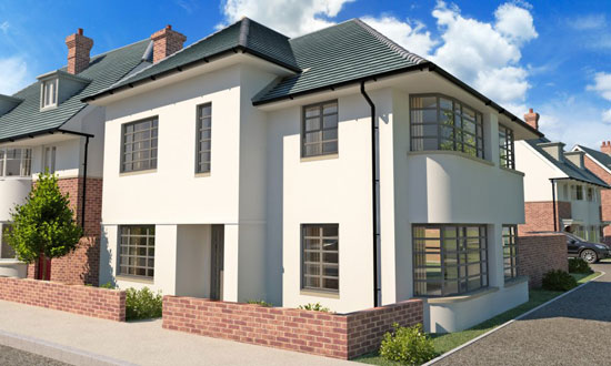 New-build art deco-style property in Northampton, Northamptonshire