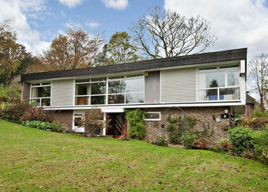 1960s architect-designed four bedroom house in Bramcote, Nottingham, Nottinghamshire