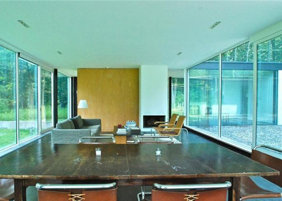 The Binocular House modernist property in Ghent, NY, USA