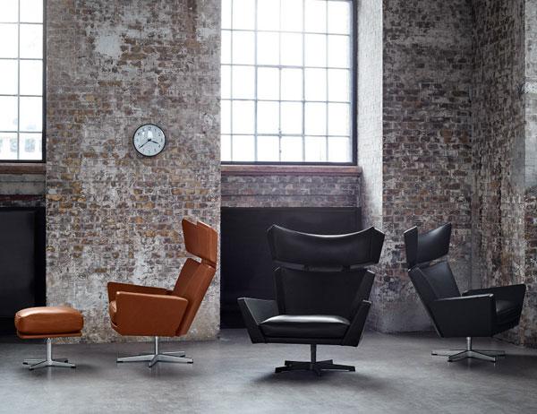 Arne Jacobsen-designed Oksen chair reissued by Fritz Hansen