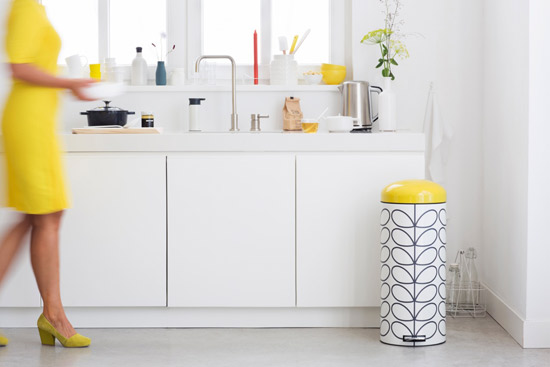 Brabantia x Orla Kiely pedal bin collection
