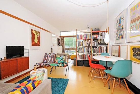 On the market: Studio apartment in Cullum Welch House on the grade II-listed Golden Lane Estate, London EC1
