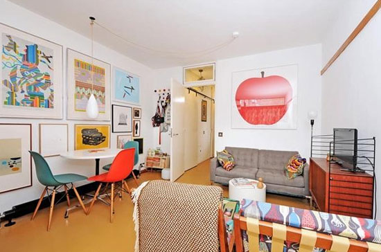 Studio apartment in Cullum Welch House on the grade II-listed Golden Lane Estate, London EC1
