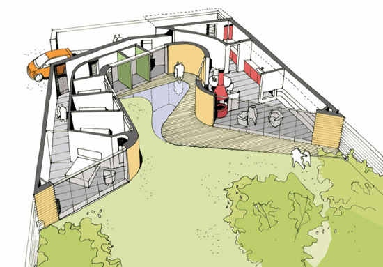 David Kirkland-designed single-storey property in Childrey, Oxfordshire