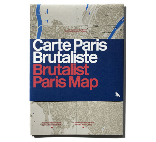 Out now: Brutalist Paris Map by Blue Crow Media