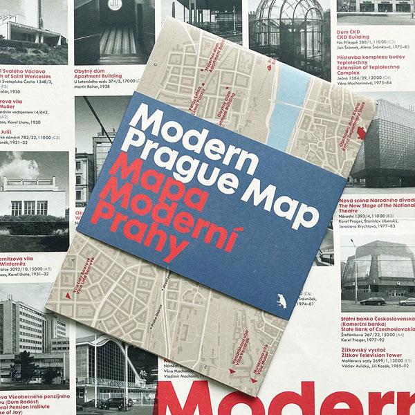 Modern Prague Map by Blue Crow Media