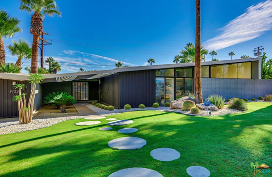 1950s William Krisel-designed midcentury modern property in Palm Springs. California, USA