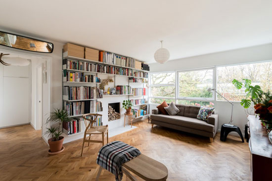 On the market: Two-bedroom apartment in the 1950s Eric Lyons-designed Parkleys Span development in Ham, Richmond, Surrey