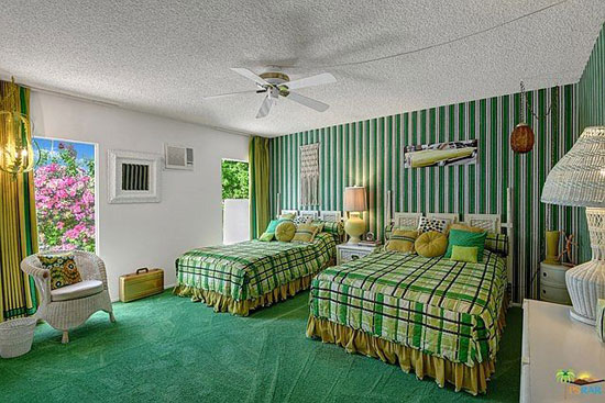 1960s time capsule in Palm Springs, California, USA