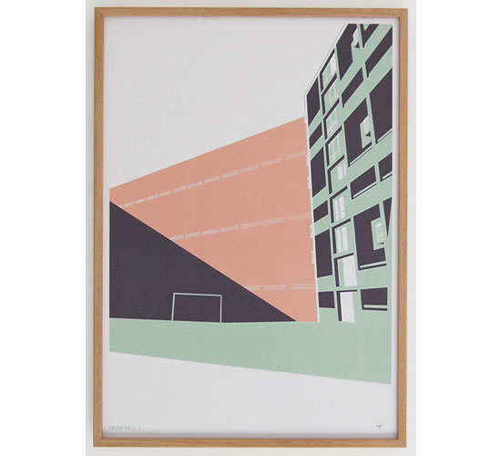 Brutalist art: Park Hill Sheffield prints by Laura Knight Studio