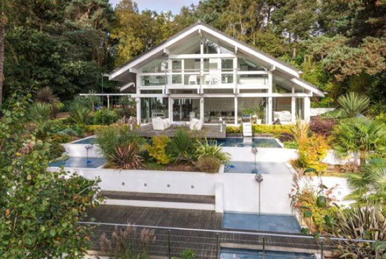 Four-bedroom modernist Huf Haus in Poole, Dorset