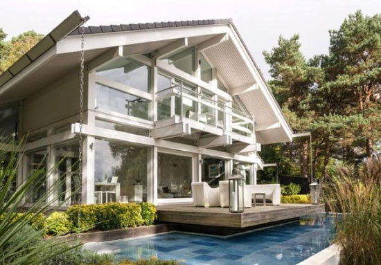 Four-bedroom modernist Huf Haus in Poole, Dorset