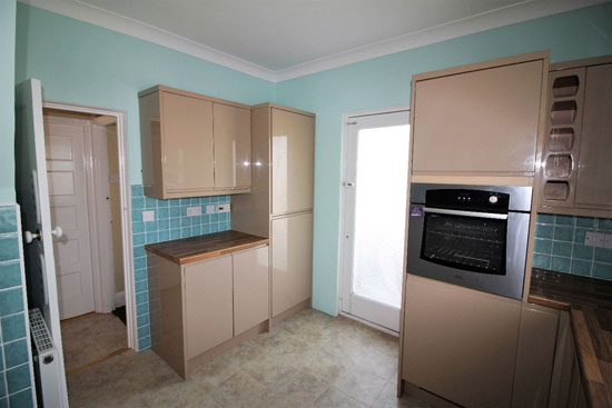 Single storey art deco-style property in Jaywick, Essex