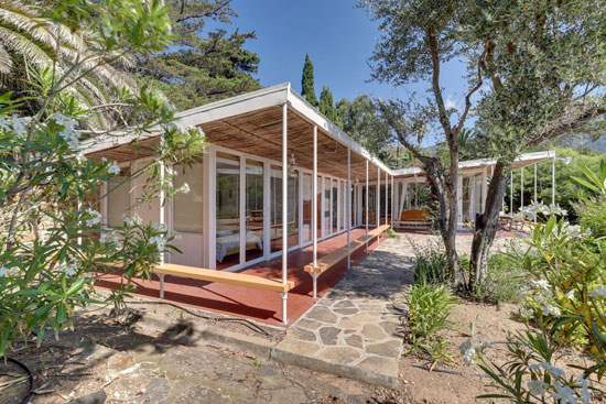 1950s Henri and Jean Prouve Villa Dollander in Le Lavandou, Cote D'Azur, France