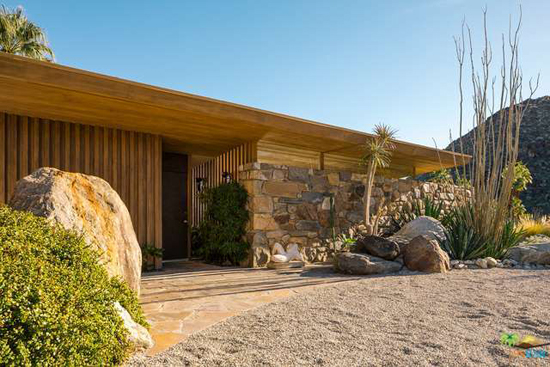 Iconic midcentury modern: The Edris House by E Stewart Williams in Palm Springs, California, USA