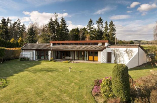 Crathinard 1970s three-bedroom modernist house in Blairgowrie, Perth and Kinross, Scotland