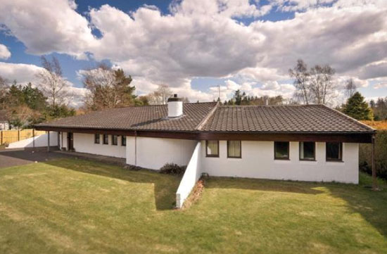 Crathinard 1970s modernist house in Blairgowrie, Perth and Kinross, Scotland