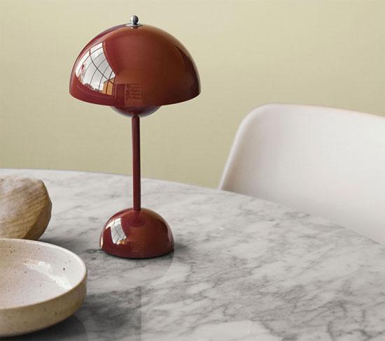 1960s Verner Panton Flowerpot Lamp goes wire-free