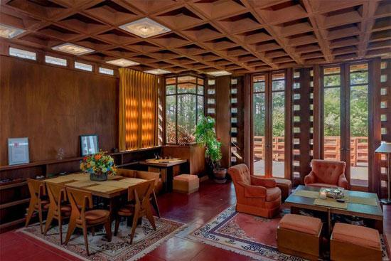 Frank Lloyd Wright Pappas House in St Louis, Missouri, USA