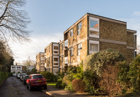 On the market: Grade II-listed apartment in 1950s Langham House Close, Richmond upon Thames, Surrey