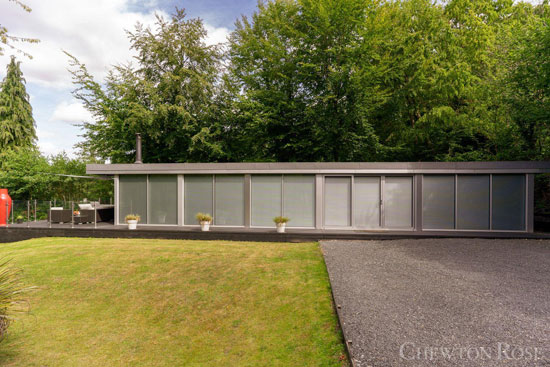 Glass box modernist house near Norwich, Norfolk