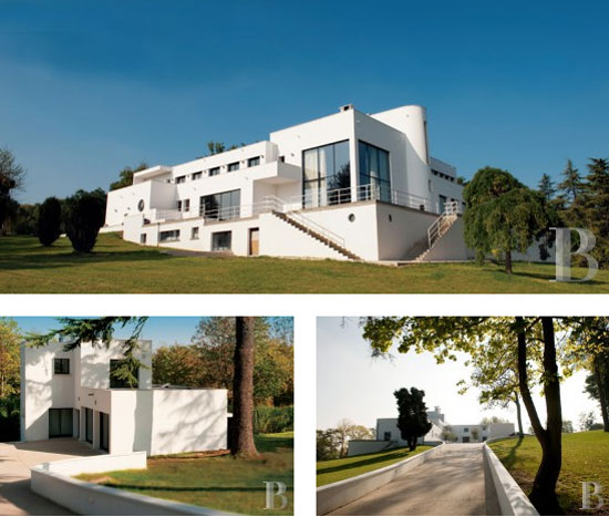 Listed 1920s Robert Mallet-Stevens-designed art deco Villa Poiret property in Île-de-France, near Paris, France