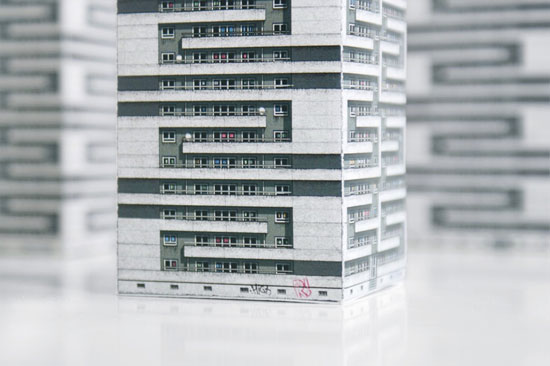 Paris Brut - miniature models of Parisian brutalism by Zupagrafika