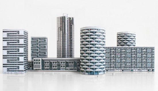 Paris Brut - miniature models of Parisian brutalism by Zupagrafika
