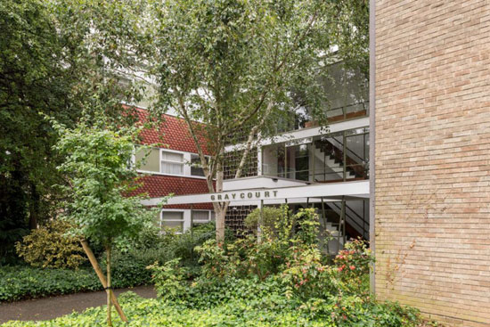 1950s modernism: Apartment in the Eric Lyons-designed Parkleys Span development in Richmond upon Thames, Surrey