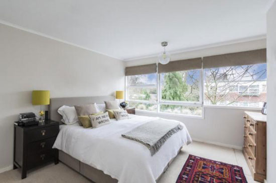 Two-bedroom apartment on the Eric Lyons-designed Span estate at Parkleys, Ham, Richmond, Surrey