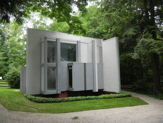On the market: 1970s Peter Eisenman-designed House VI modernist property in West Cornwall, Connecticut, USA