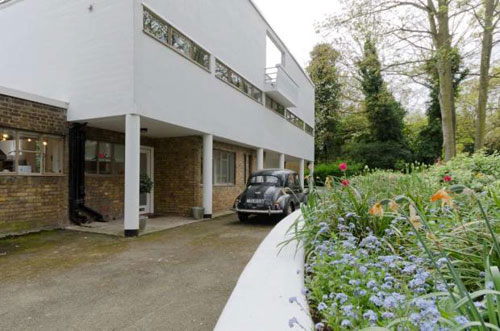 1930s Berthold Lubetkin-designed Six Pillars modernist house in London