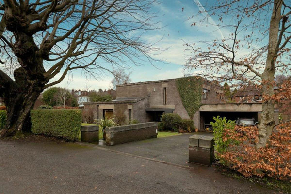 1980s Brian Lowe modern house in South Belfast, Northern Ireland