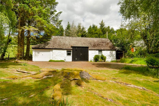 Grianan 1960s modernist property in Kinloch Rannoch, near Pitlochry, Scotland