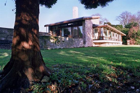 1960s Trevor Dannat-designed midcentury modern Pitcorthie House in Colinsburgh, Eastern Fife, Scotland