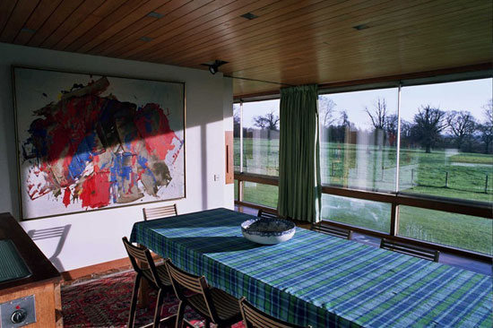 1960s Trevor Dannat-designed midcentury modern Pitcorthie House in Colinsburgh, Eastern Fife, Scotland