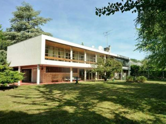 1960s Sten Samuelson-designed modernist villa in Pontoise, near Paris, France