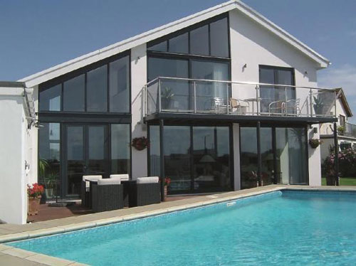 On the market: Contemporary four-bedroomed property with pool in Porthcawl, Mid Glamorgan