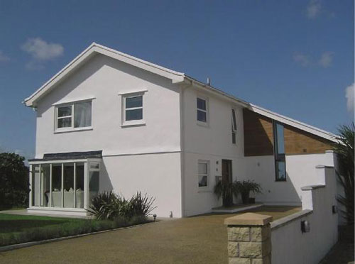 Contemporary four-bedroomed property with pool in Porthcawl, Mid Glamorgan