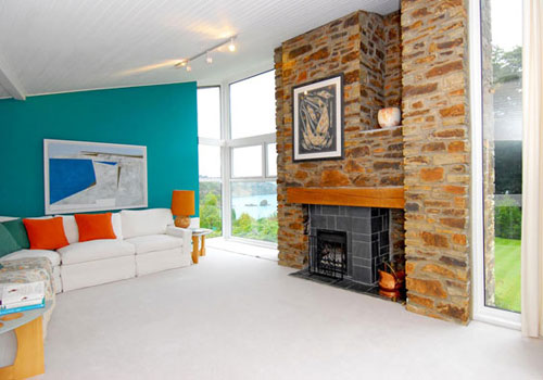 John Truscott-designed four-bedroomed house in Porthpean near St. Austell, Cornwall