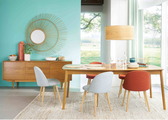 Portobello midcentury modern furniture range at Maisons Du Monde
