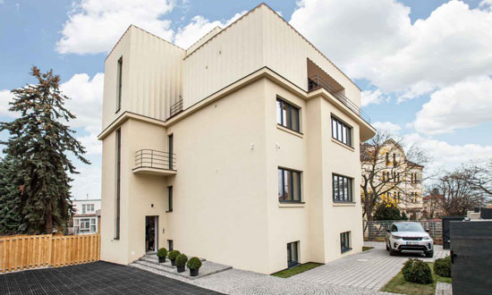 1930s art deco apartments in Prague, Czech Republic