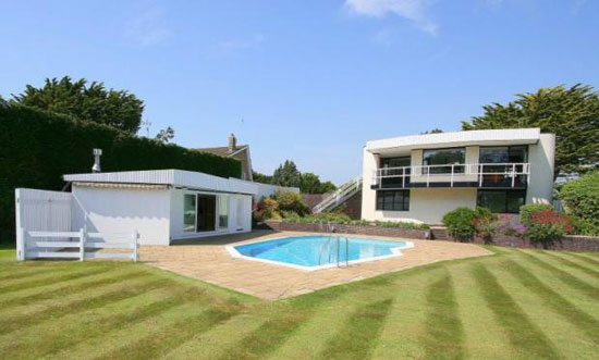 Back on the market: 1960s grade II-listed Vista Point property by Patrick Gwynne in Angmering, West Sussex