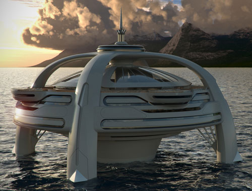 Project Utopia sea-based luxury house