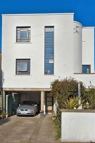 On the market: Modernist-style three-bedroomed house in Pwllheli, Gwynedd, North Wales