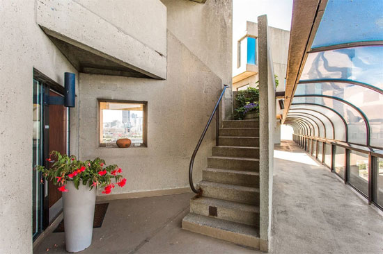 Apartment in the brutalist Habitat '67 in Montreal, Quebec, Canada