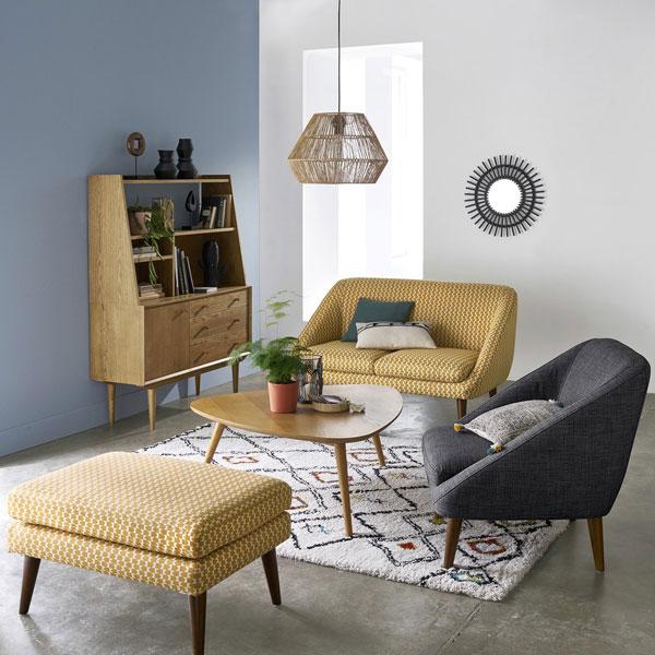 Midcentury interior: Quilda furniture range at La Redoute